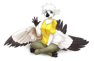 White birdie by TheBorealYoako