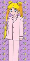 Usagi in her pyjamas by maskeraderosen