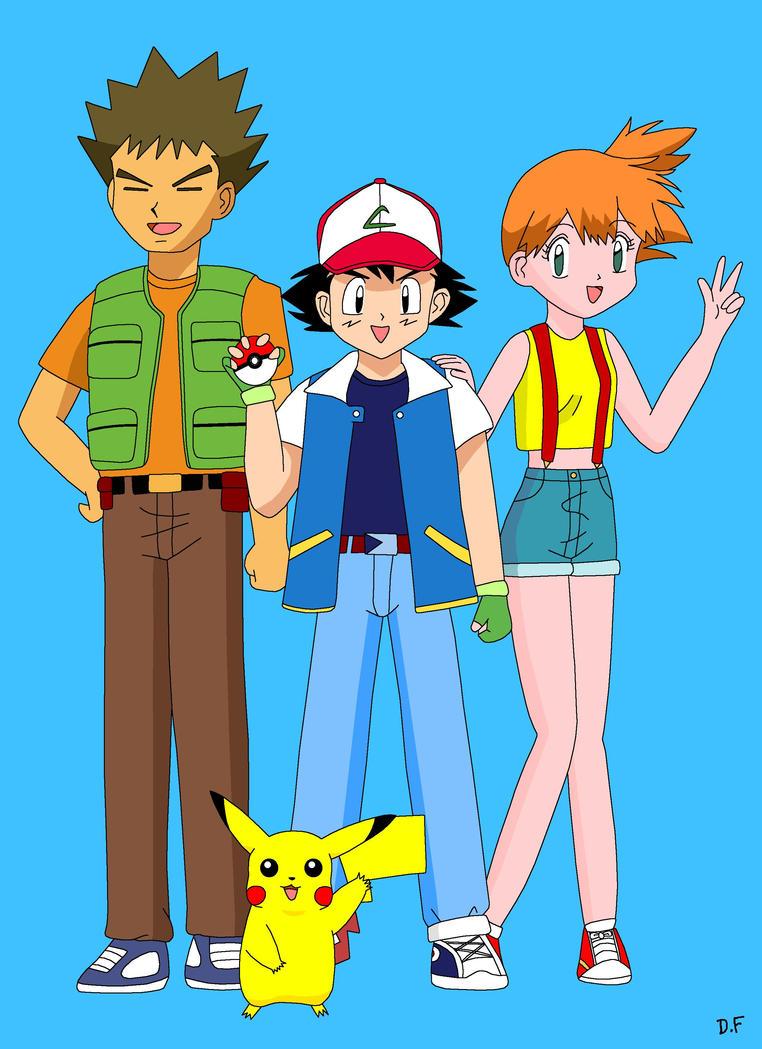 Ash Misty Brock And Pikachu by Princess-Amy-of-Love on DeviantArt
