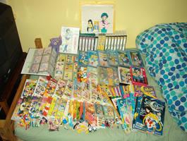My Sailor Moon collection! by maskeraderosen