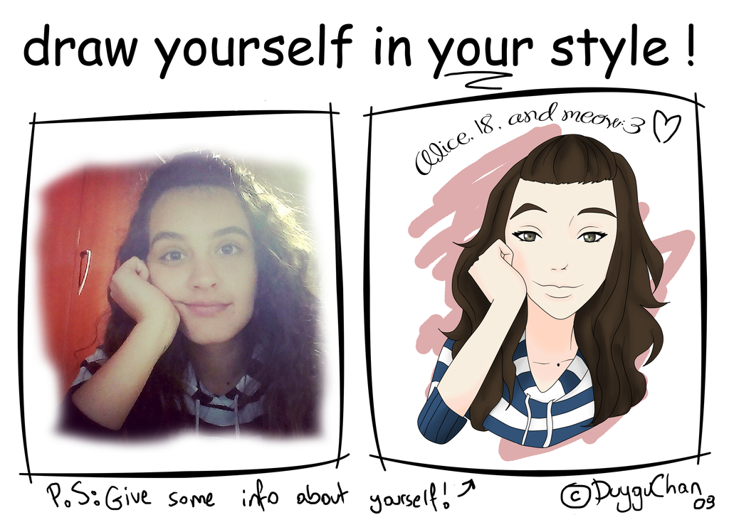 Draw yourself in your style - Milamoo by Milamoo on DeviantArt
