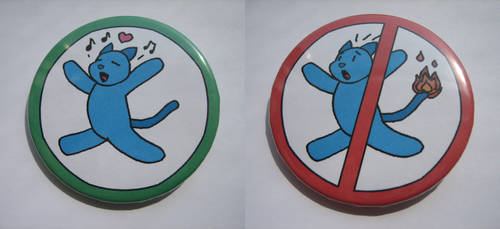 no burning allowed - buttons