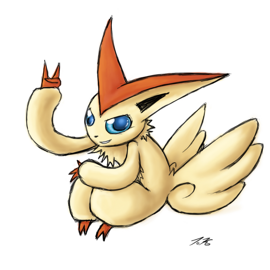 Collaborative Fire Types - Victini by Karret