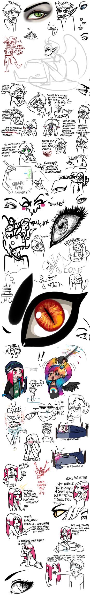 Doodles 3 by Karret