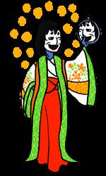 Yokaitober 01 - Aonyobo, the Blue Lady