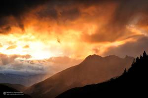 Rainy alpine sunset by matthieu-parmentier