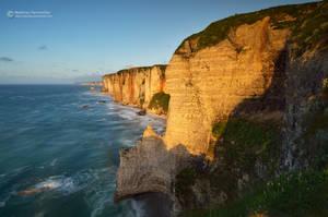 Golden cliffs by matthieu-parmentier