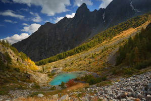 The turquoise lake by matthieu-parmentier