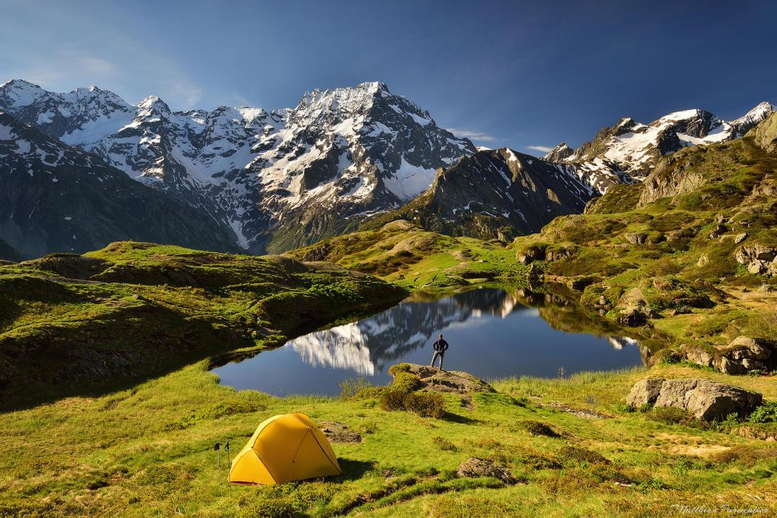 The perfect campsite by matthieu-parmentier