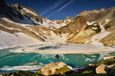 The melting lake by matthieu-parmentier