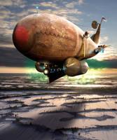 Steampunk Airship by BonnySaintANdrew