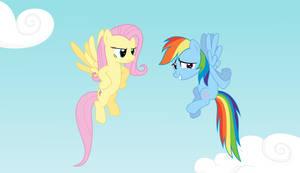 Rainbow Dash with Fluttershy