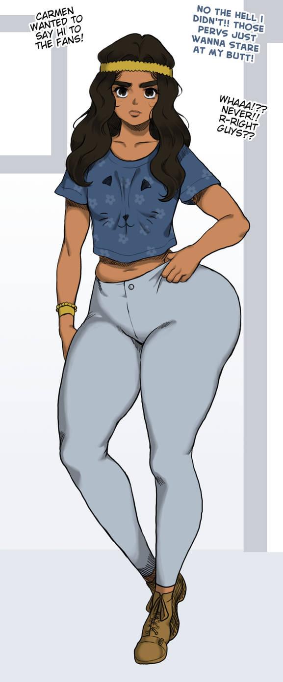 Carmen Says Hello by Jay-Marvel