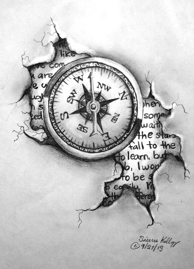 The gallery for --> Pocket Compass Tattoo Drawing