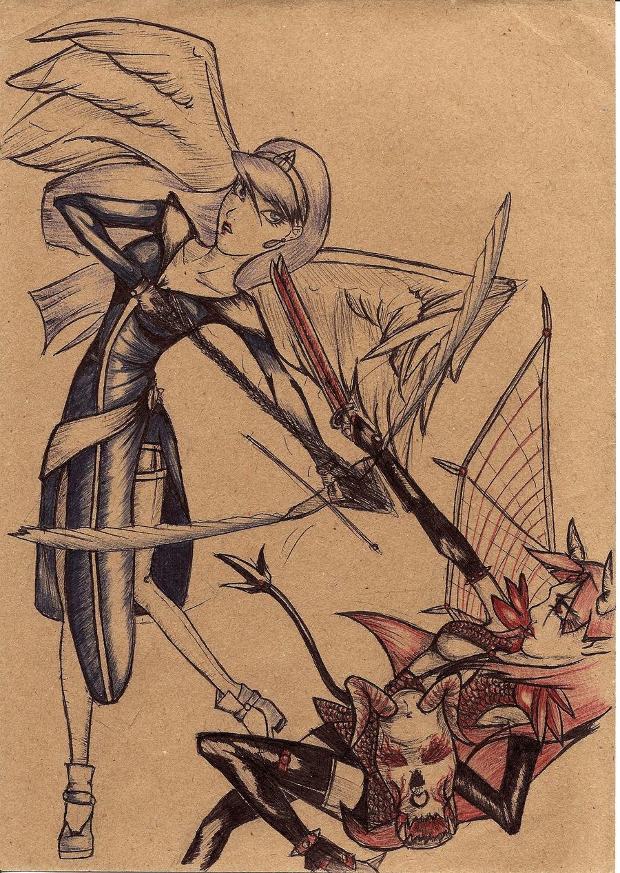 Anjos Vs Demonios By DFair On DeviantArt