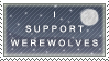 Stamp - I Support Werewolves by Wolfcurse