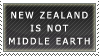 Stamp - Not Middle Earth by Wolfcurse