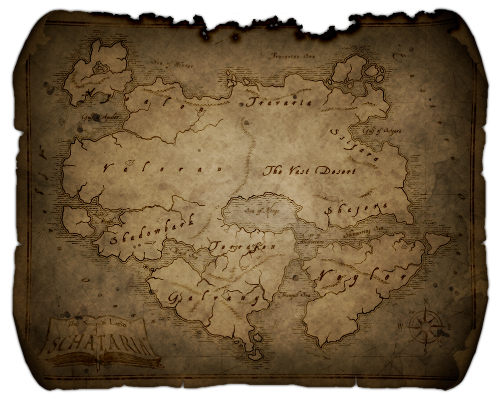 Tattered Map Of Schataria By Slylok