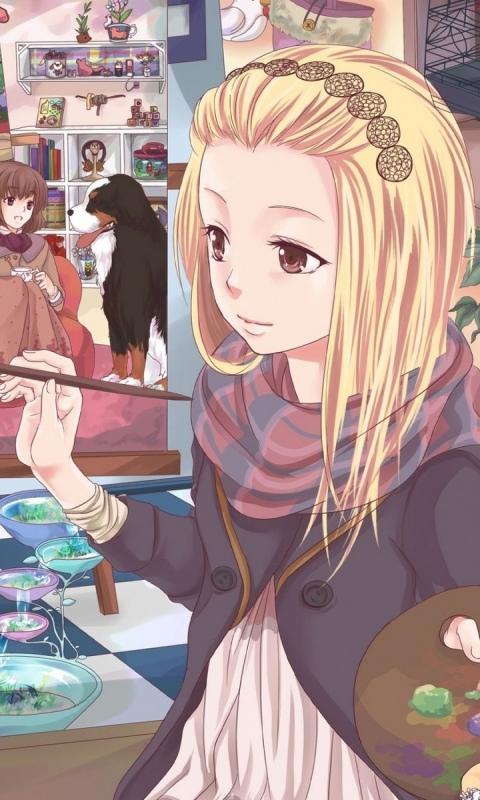 anime girl painting by fariytaillover on deviantart
