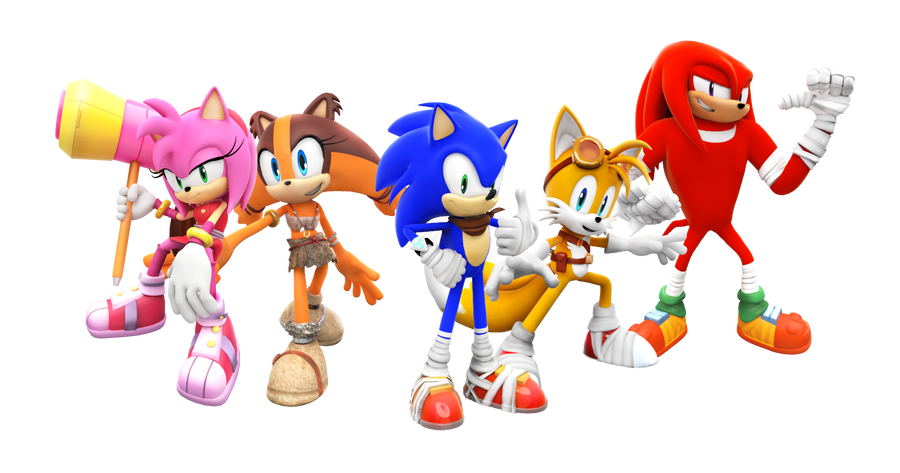 Sonic Boom Characters Render By SuperRatchetLimited On