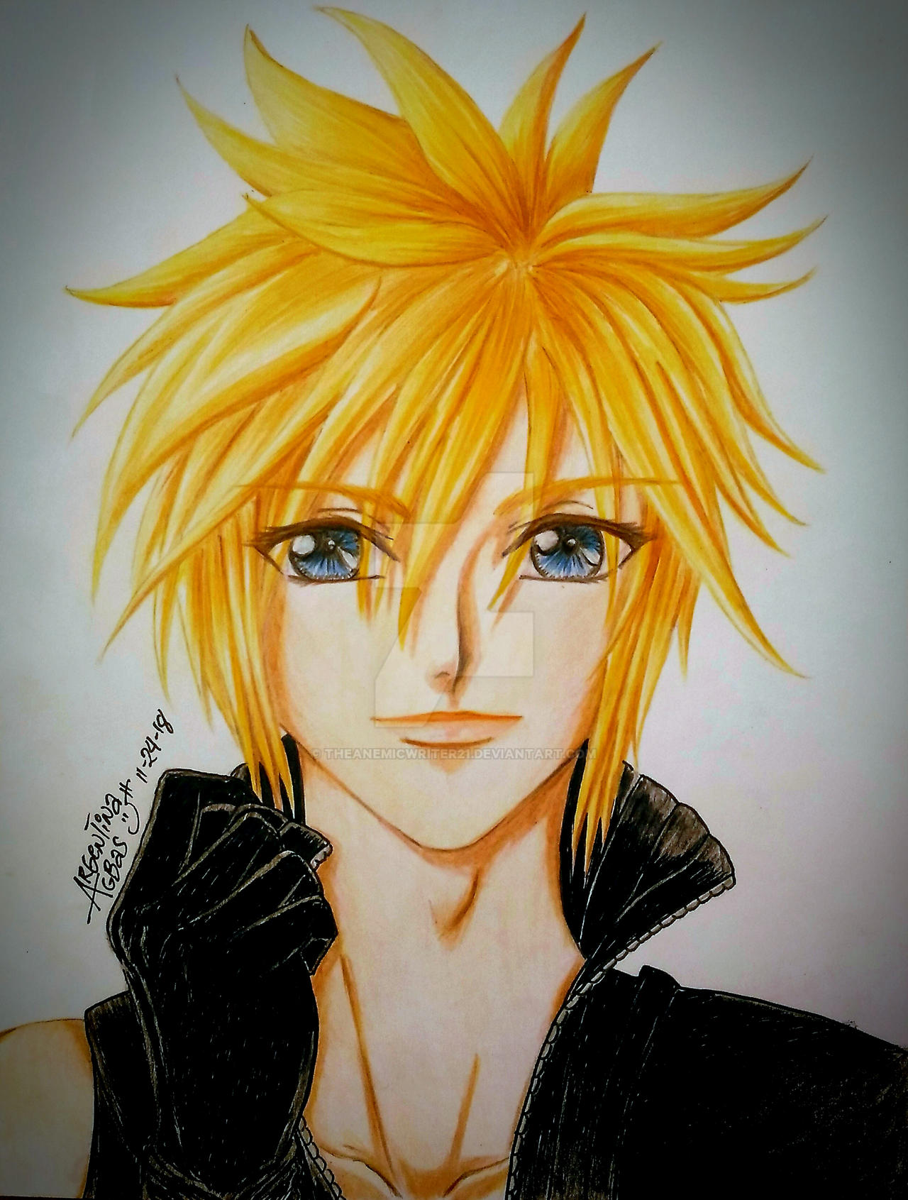 Cloud strife fanart by theanemicwriter21 on deviantart - Cloud strife fanart ...