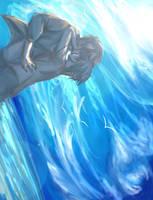 Percy/Nico: Ocean Kiss by Akosynne