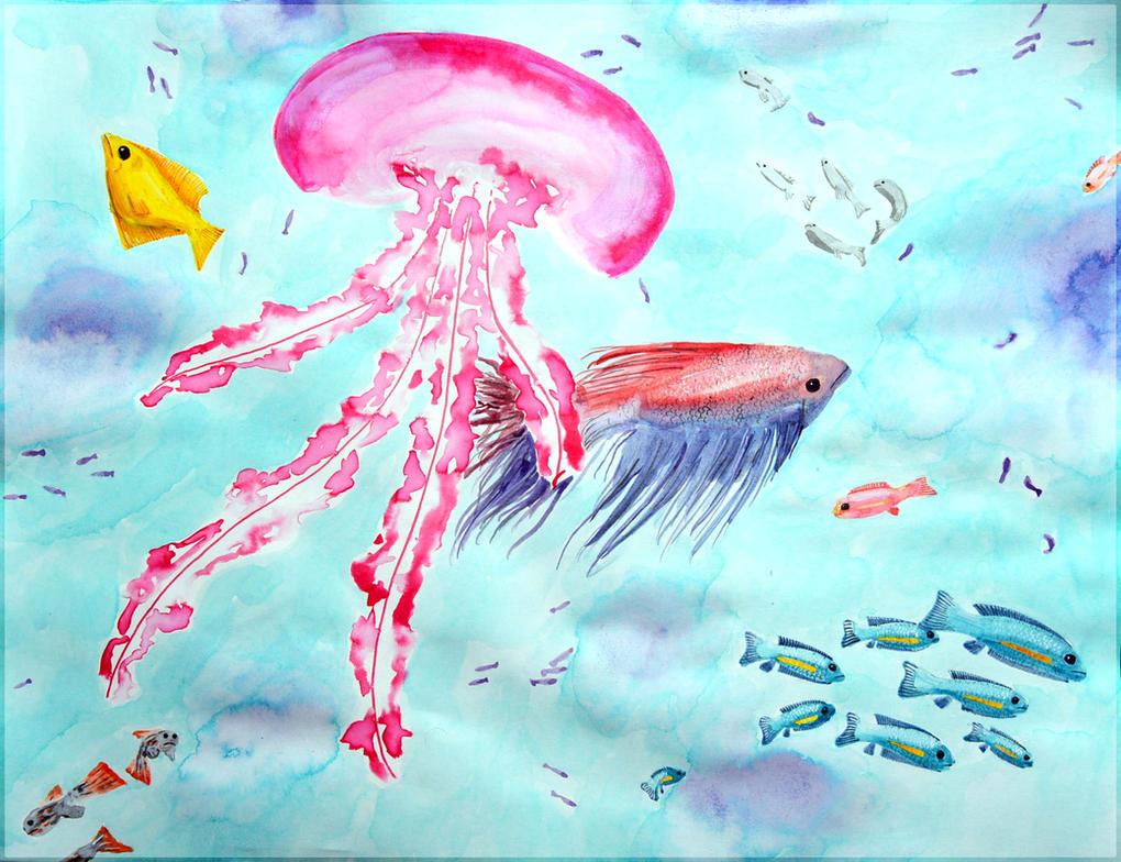 Fish love by Ama-Lemuria