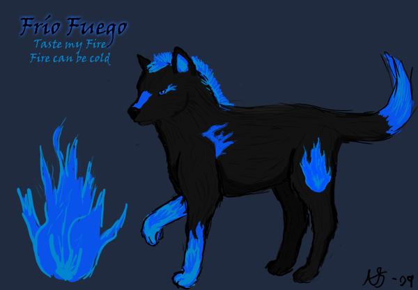 Blue Fire Wolf | www.pixshark.com - Images Galleries With ...