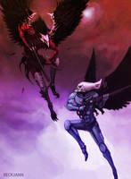 Scourge Vs. Swooping Hawk by Beckjann