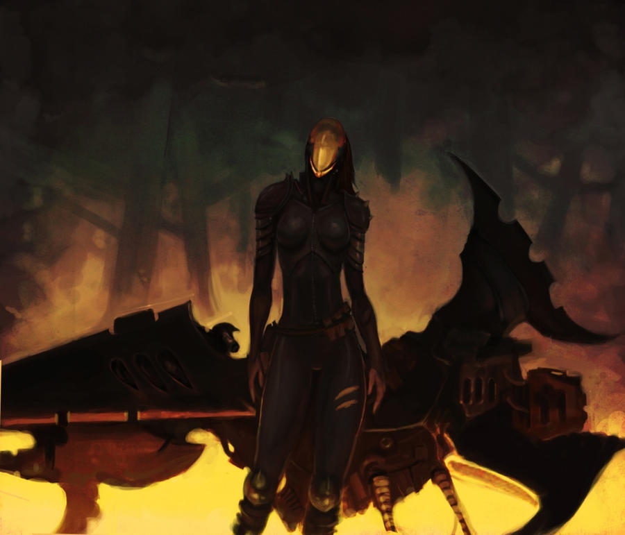 Dark Eldar Reaver by Beckjann