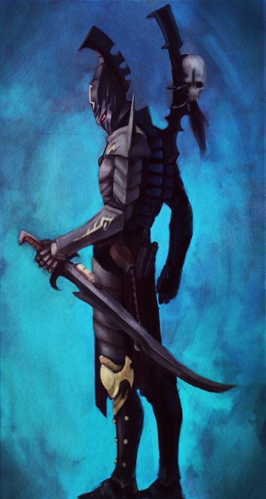 Dark Eldar Sybarite by Beckjann