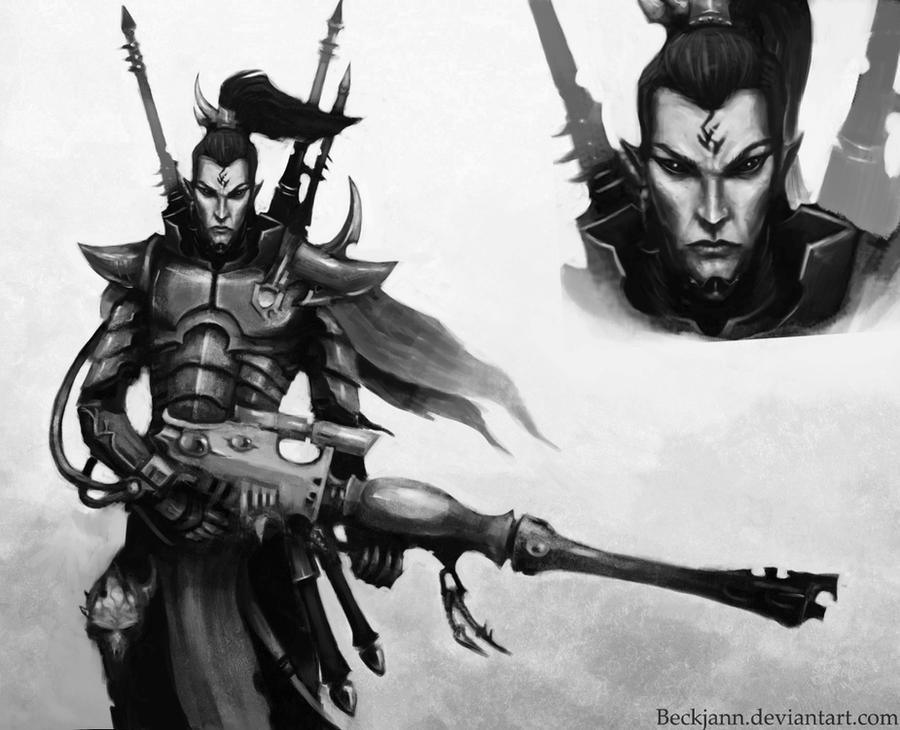 Dark Eldar: Dracon Alaktel by Beckjann