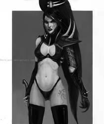 Dark Eldar: Succubus Arsaette by Beckjann