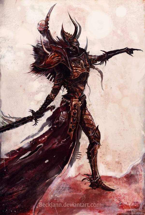 Dark Eldar: Supreme Tyrant by Beckjann