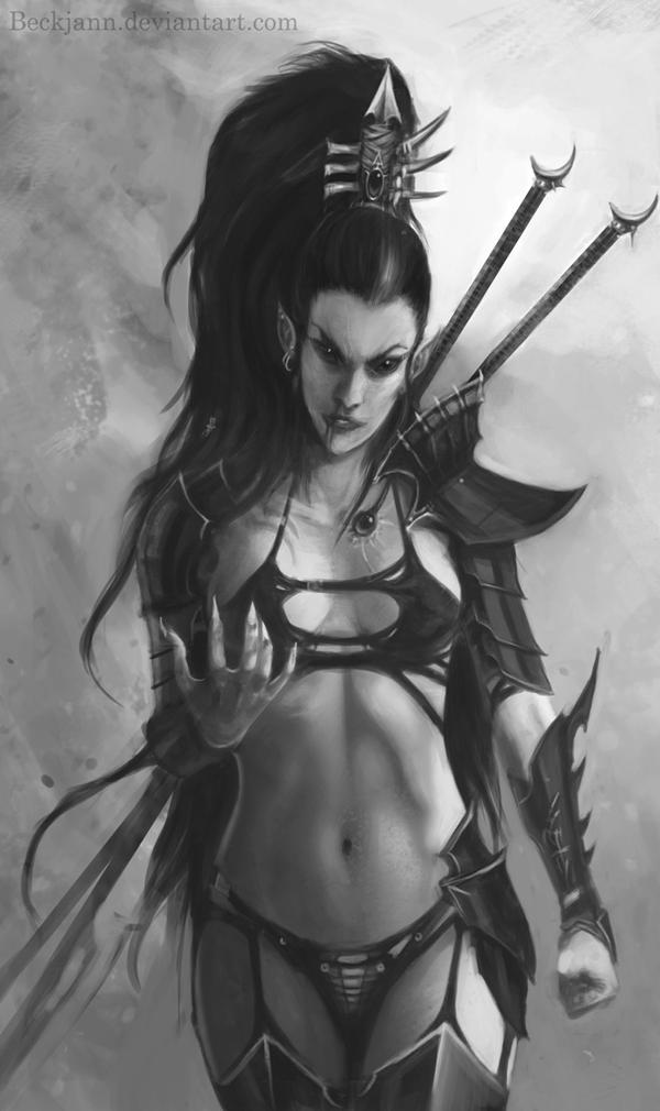 Dark Eldar: Lelith Hesperax 2 by Beckjann