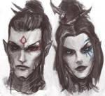 Dark Eldar: Alaktel and Shyntafae