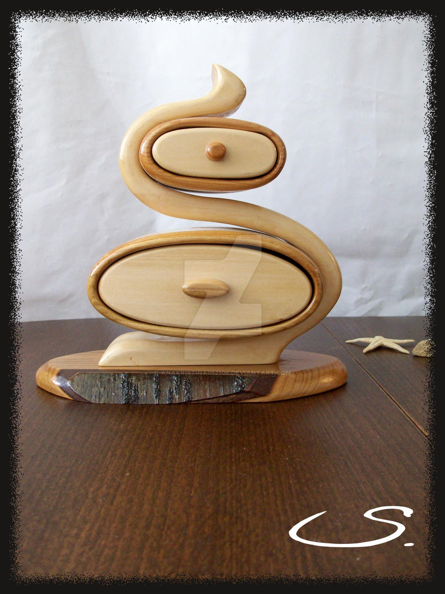 Wooden handmade jewelry box by anakristina052106 on deviantart for Handmade wooden jewelry box