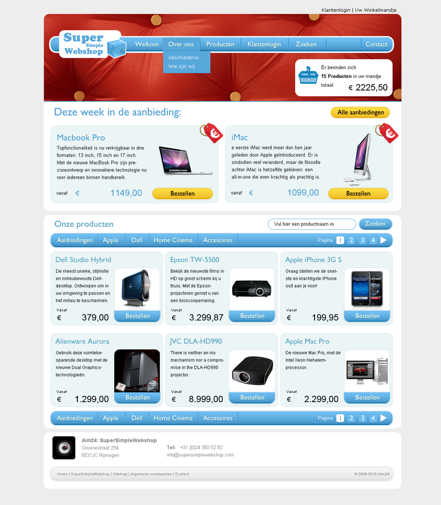 Web Design Package Features