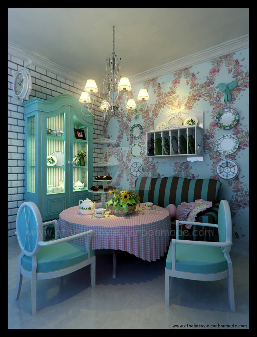 Mini dining room by athaliasovie on deviantart for H o rose dining room