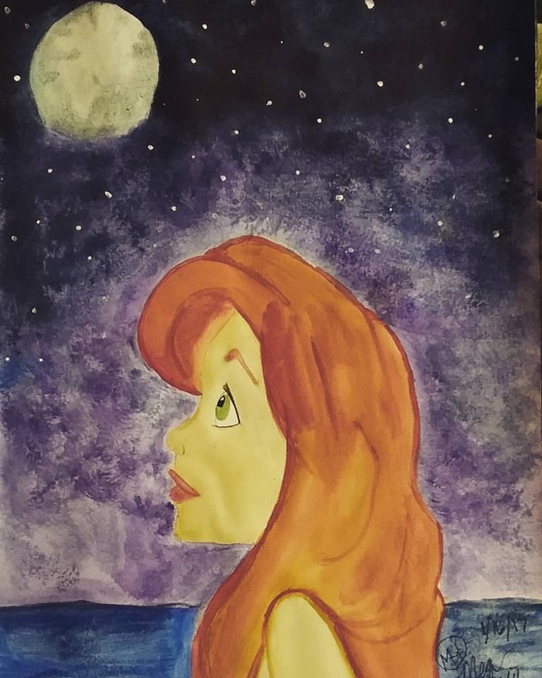 Even mermaids wish upon stars Jan15 by megalledAnn