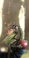 Mischief Managed Dragon Detail