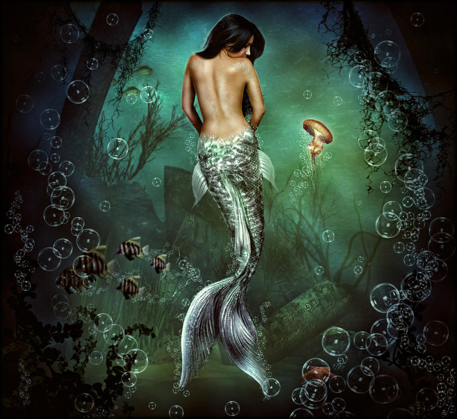Mermaid 'Miss Understood' by brandrificus