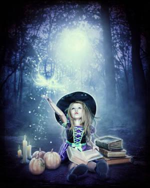 Littlest Witch : Halloween Spell Practice by brandrificus