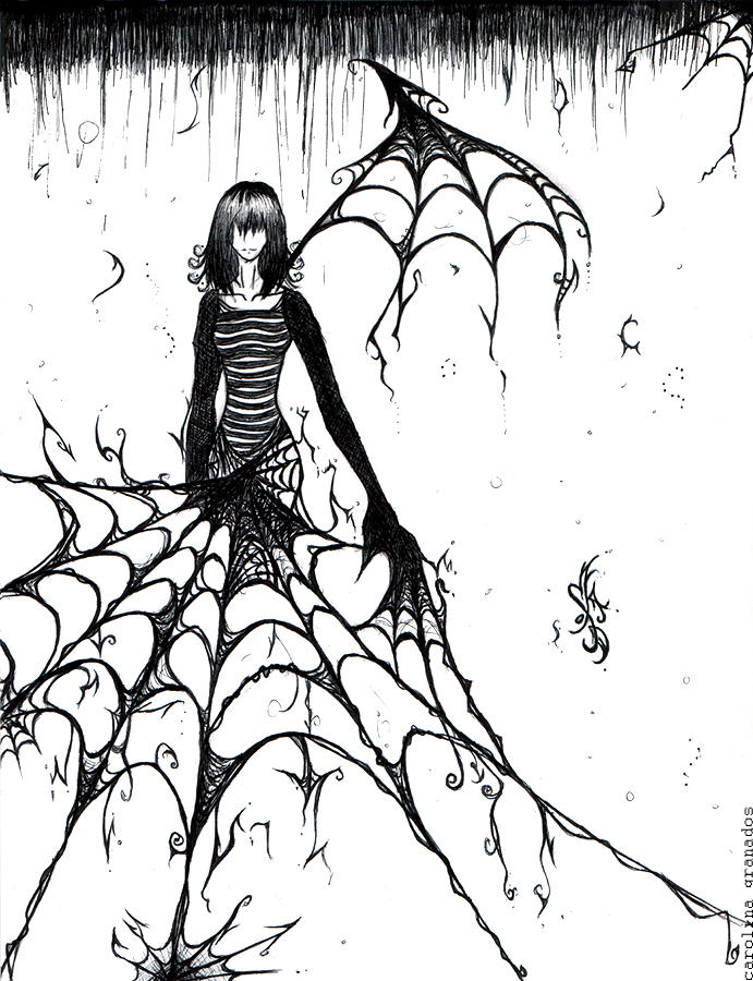 Spider webs by emblazedgreen on deviantart for Easy drawing websites