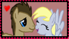 Doctor and Derpy Stamp by randomflashgames11