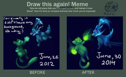 Draw this again meme by LizaMonstrik
