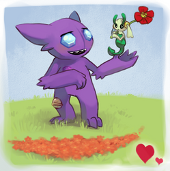 The Fairy and the Goblin. by LizaMonstrik