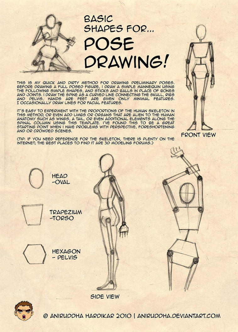 Basic Shapes for Pose Drawing by aniruddha