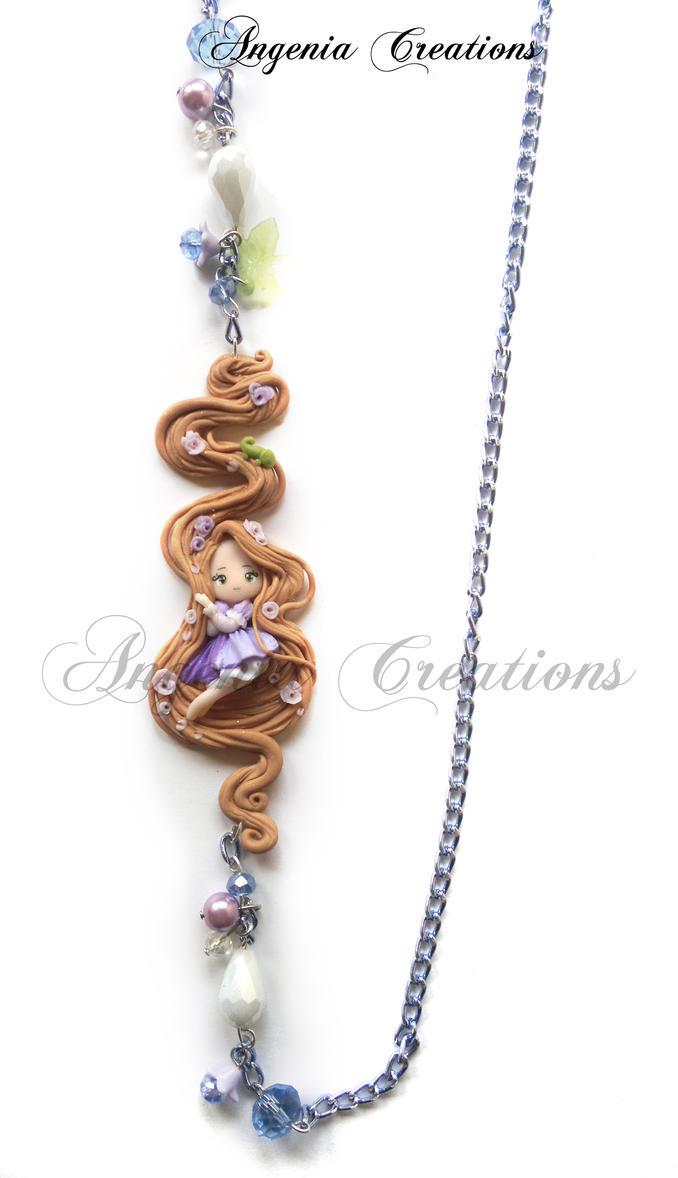 Rapunzel necklaces by AngeniaC