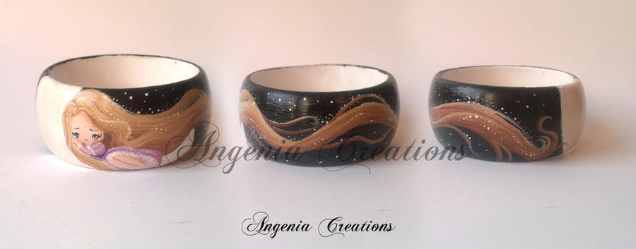 rapunzel on the moon bangle by AngeniaC